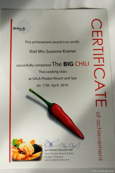 The BIG Chili certificate